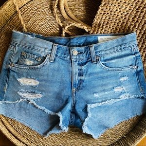 Rag & Bone Cut Off denim Shorts